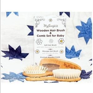 Other - Premium Wooden Baby Hair Brush and Comb Set